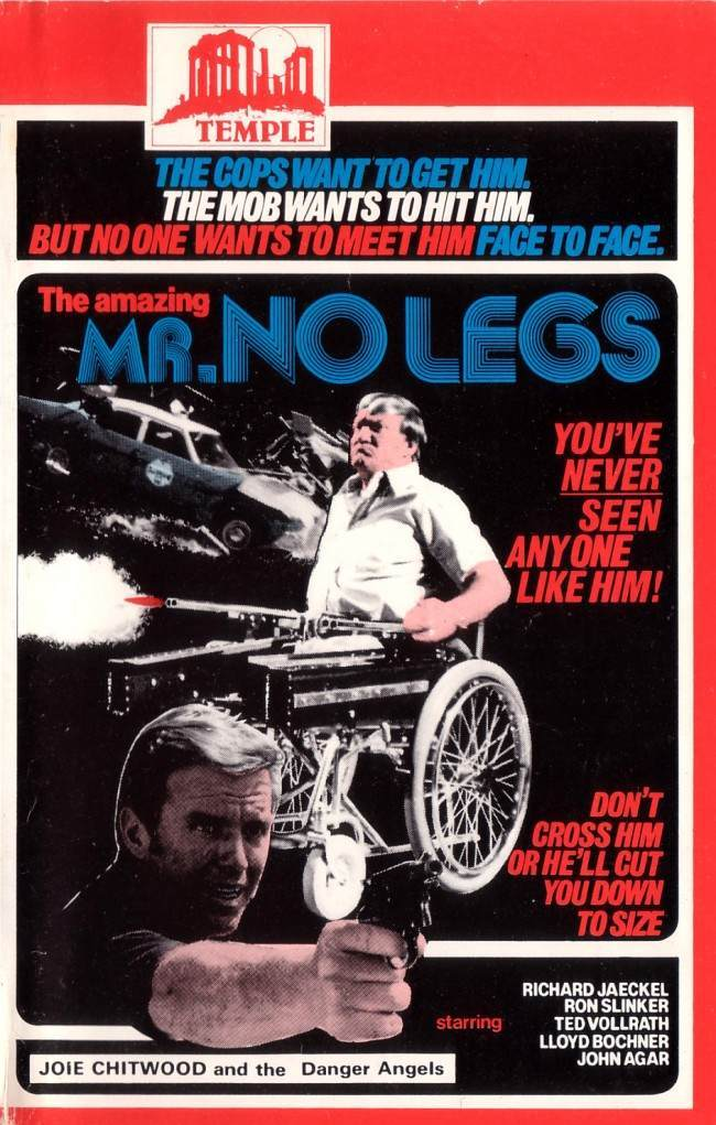 THE AMAZING MR NO LEGS 10 Wonderfully Insane VHS Action Movie Covers