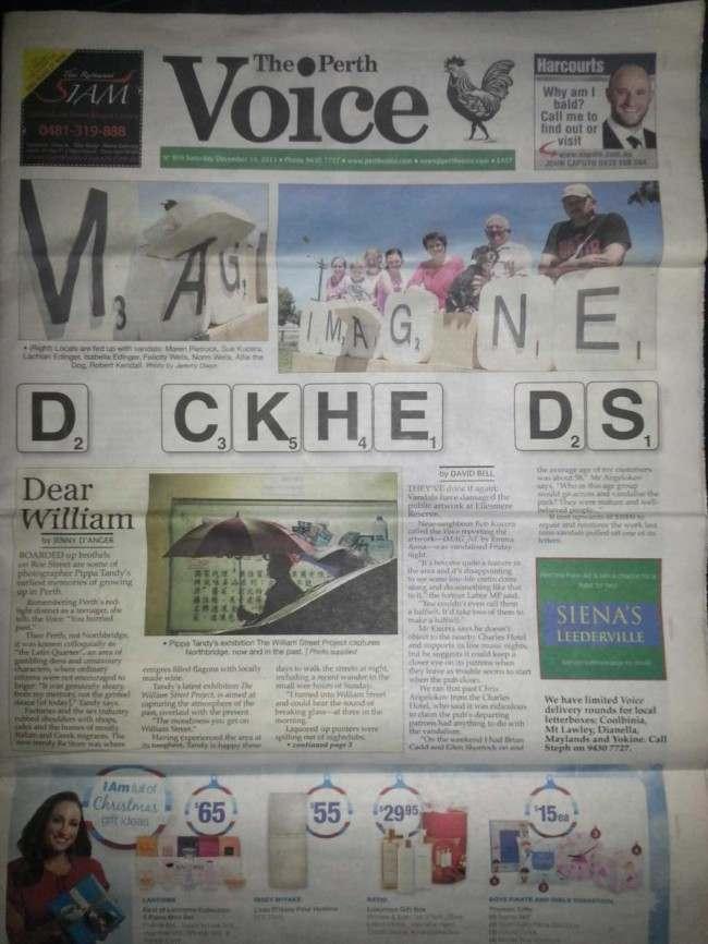 The Perth Voice vandals