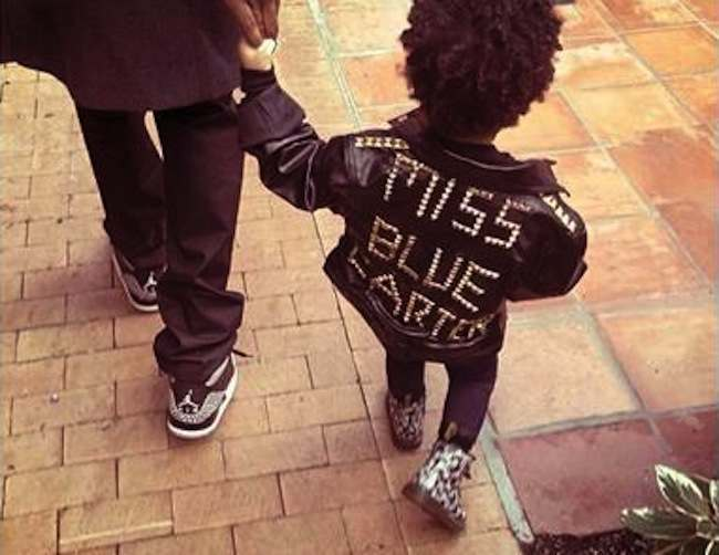blue ivy carter jacket Blue |vy Carter is Dog Shamed   Beyonce Perp Walks Blue Ivy Farter