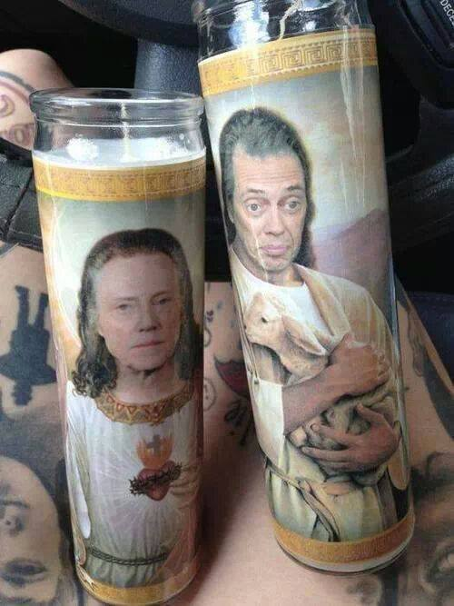 candles by etsy The Steve Buscemi Christmas Jesus Candle