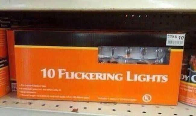 lights Font Fail: 10 FLICKERING Lights