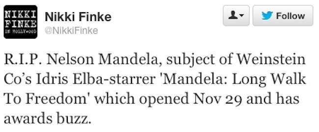 nikki finke mandela Mandela Marketing: Nikki Finke Plugs The Film Of The Dead Man