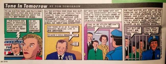 tom tomorrow hysteria In 1994 Tom Tomorrow Predicted The NSA Would Spy On All Of Us