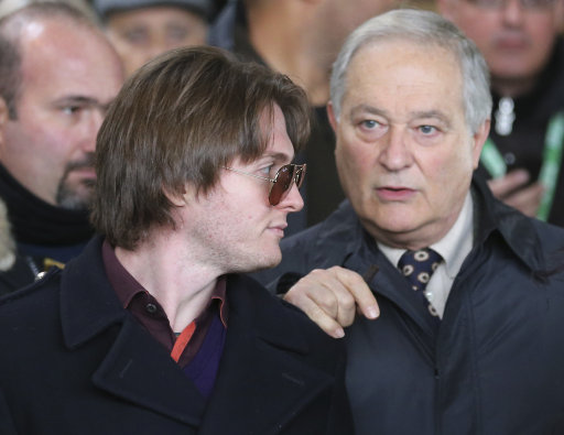 Raffaele Sollecito, left, and his father Francesco