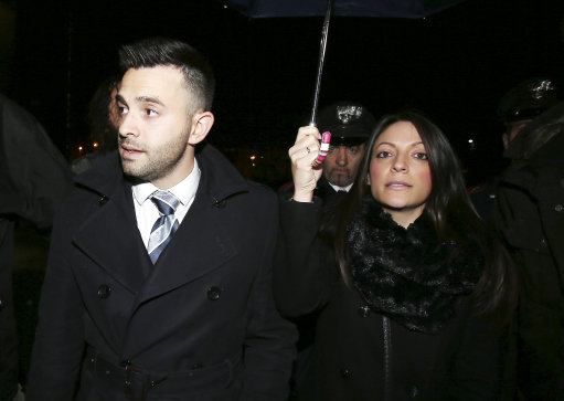 Meredith Kercher's brother Lyle, left, and sister Stephanie arrive for the final hearing before the third court verdict for the murder of British student Meredith Kercher, in Florence, Italy, Thursday, Jan. 30, 2014.