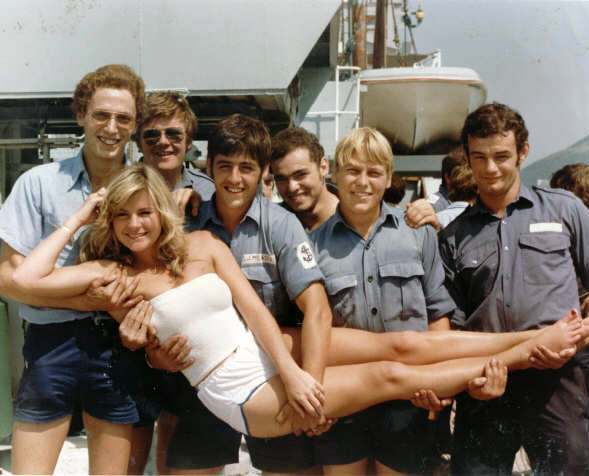 Historic photograph of first female galley helper