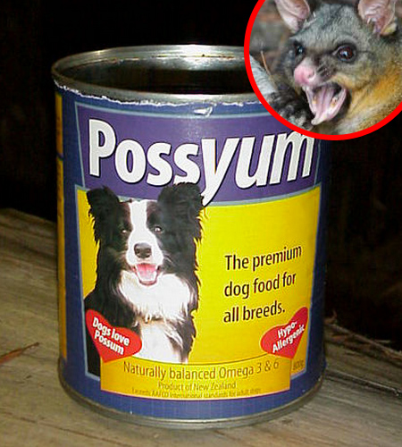 AngryPossyum Possyum, A Dog Food Made From New Zealands Marsupial Menace
