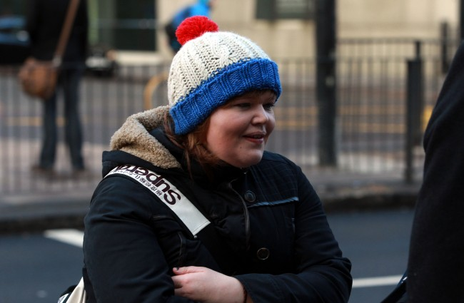 Isabella Sorley, 23, from Newcastle, arriving at Westminster Magistrates Court, London, where she and John Nimmo are to appear in court charged with improper use of a communications network in relation to tweets to campaigner Caroline Criado-Perez. Picture date: Tuesday January 7, 2014. The Crown Prosecution Service (CPS) announced last month that both had been charged under Section 127 of the Communications Act. However it would not be in the public interest to prosecute over messages allegedly sent to MP Stella Creasy. See PA story COURTS Twitter. Photo credit should read: Sean Dempsey/PA Wire