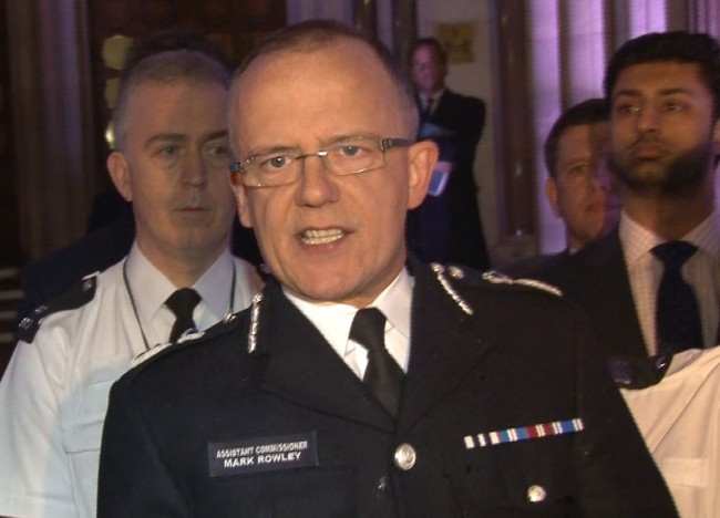 Video grab of Assistant Commissioner Mark Rowley talking outside the Royal Courts of Justice in London after a jury found that Mark Duggan was lawfully killed when he was shot dead by a police marksman.