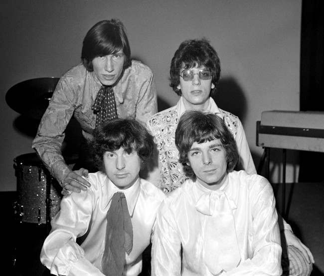 Pink Floyd - 1967. Back row: Roger Waters (l) and Nick Mason. Front row: Syd Barrett (l) and Rick Wright.