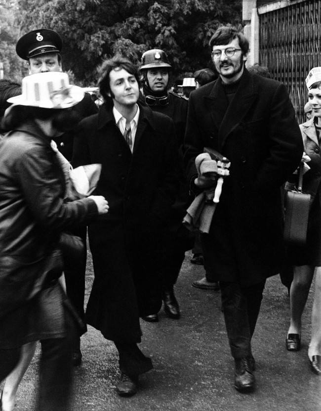 PA 9327094 Flashback Photo 1968: Beatle Paul McCartney Watches The FA Cup Final Between Everton and West Bromwich Albion