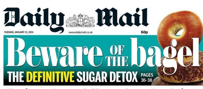 Screen shot 2014 01 20 at 22.33.16 The Daily Mail Says Bagels Give You Cancer And Sugar Is Evil