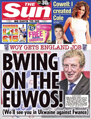 The-Sun-Roy-Hodgson-front-page (1)