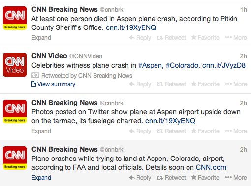 aspen plane crash CNN fail