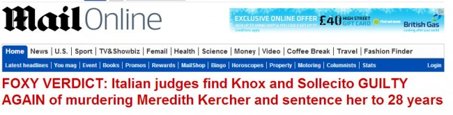 foxy She Devil Amanda Knox Murdered Like Eichmann: Third Time Lucky For Meredith Kercher