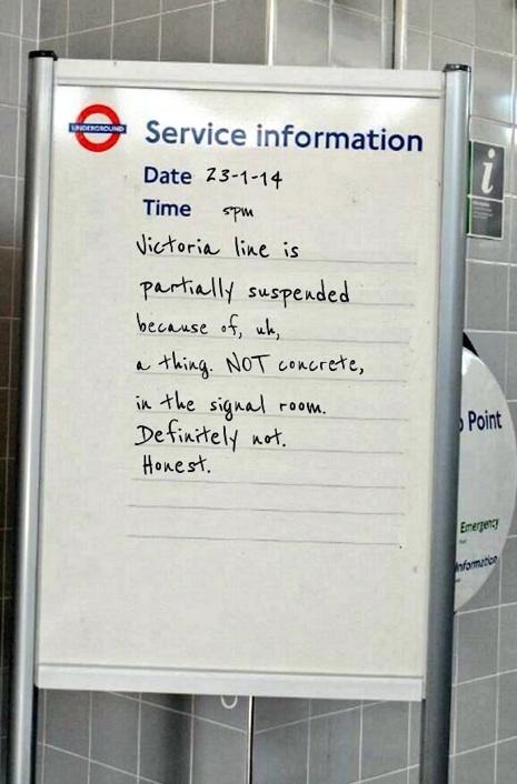 london underground cement poster