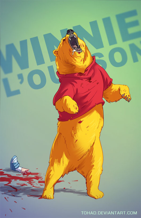Cartoon Characters Gone Bad : Anorak badass arts french illustrator tohad updates