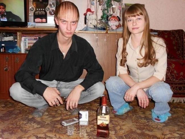 squatting russians