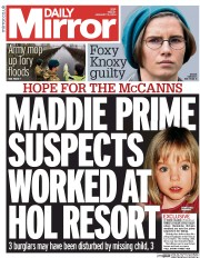 Daily Mirror 31 1 2014 Madeleine McCann: Who Needs Keys To Force A Window?