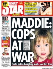 Daily Star 18 2 2014 Madeleine McCann: All Eyes On The Dead Black Man