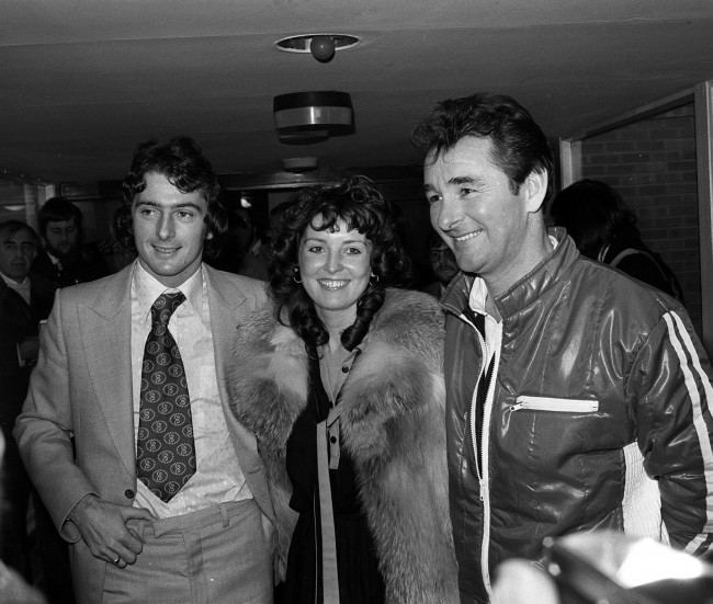 Former Birmingham City footballer Trevor Francis with his wife, Helen, and Nottingham Forest manager Brian Clough at the City Ground Nottingham after becoming Britain's most expensive player.   Date: 09/02/1979