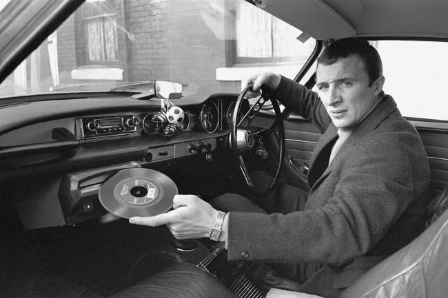 PA 1453417 1967: Manchester Citys Mike Summerbee Demonstrates His Cars Built In Record Player