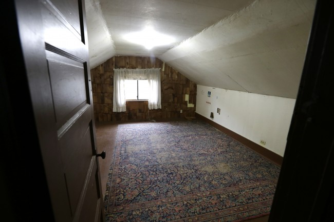 An attic bedroom used by Kurt Cobain,