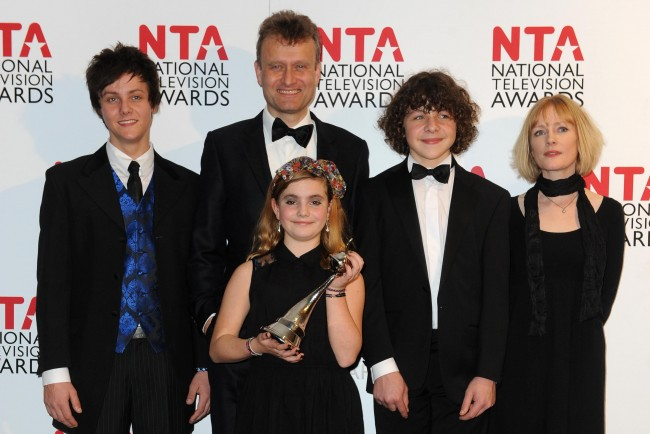 The cast of Outnumbered Tyger Drew-Honey, Hugh Dennis, Ramona Marquez, Daniel Roche and Claire Skinner as they are calling it quits after a fifth and final series. Issue date: Wednesday January 15, 2014. The BBC One show, which made stars of child actors Tyger Drew-Honey, Daniel Roche and Ramona Marquez, will feature a guest appearance from Simpsons star Harry Shearer in the last series. Co-creator Guy Jenkin said he was surprised by the success of the show which relies heavily on the cast improvising around the script.