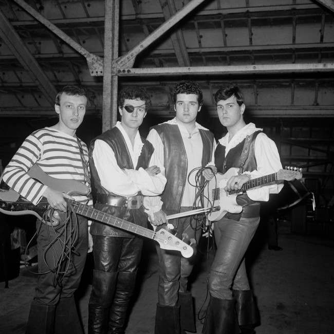 Johnny Kidd (real name Frederick Alfred Heath) shown here with an eye patch with the rest of the band.