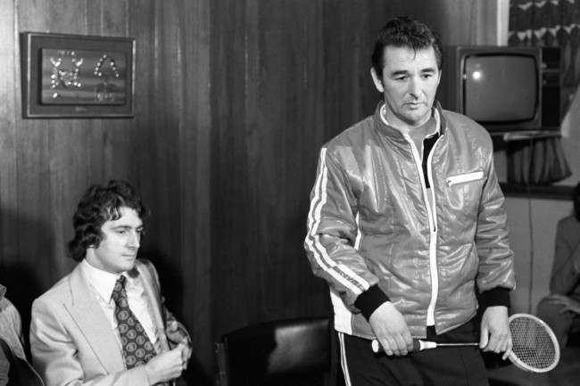 Clough had been on the squash court