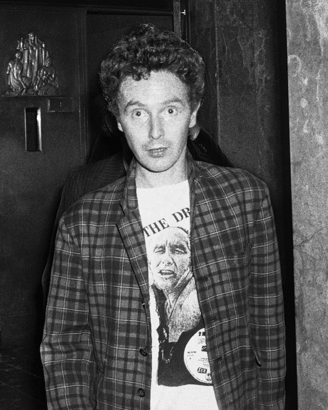 n this Oct. 13, 1978 file photo, band manager Malcolm McLaren leaves Manhattan Criminal Court in New York, after the arraignment of Sid Vicious of the punk rock band the Sex Pistols, on second-degree murder in the stabbing death of his girlfriend, Nancy Spungen. McLaren, 64, died of cancer, Thursday, April 8, 2010, in New York according to his agent, Les Molloy.
