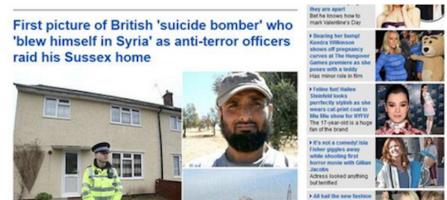 Screen shot 2014 02 12 at 22.56.22 Daily Mail Epic Typo: British Suicide Bomber Blew Himself In Syria