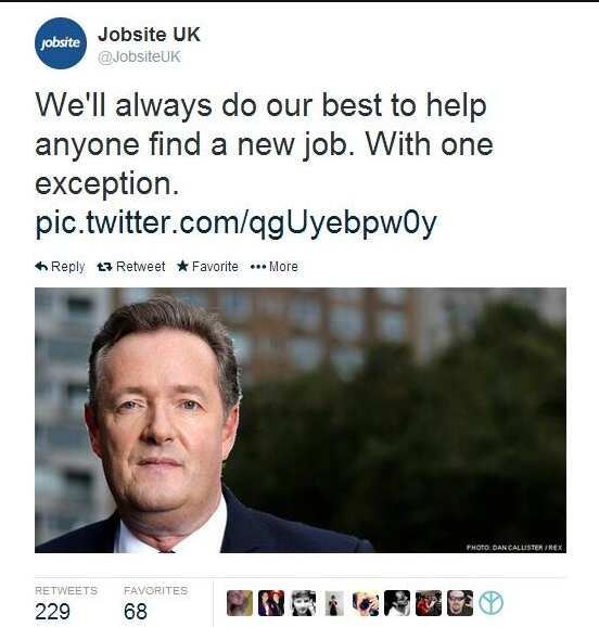 Screen shot 2014 02 25 at 10.02.23 Daily Mails Jobsite Refuses To Find Work For Incomprehensible Piers Morgan (The Papers Columnist)