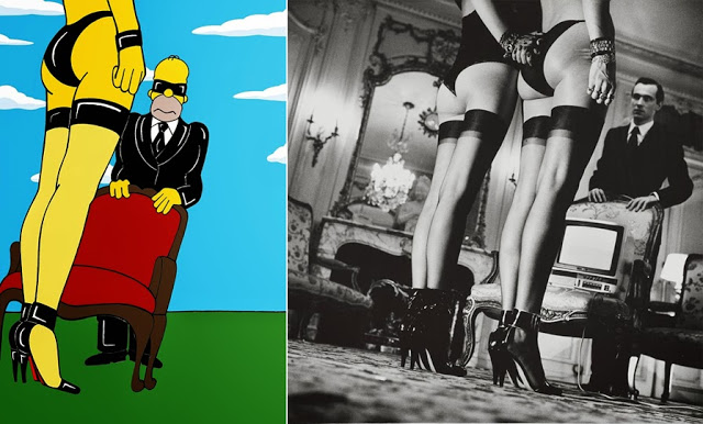 The Simpsons Meets Helmut Newton by AleXsandro Palombo