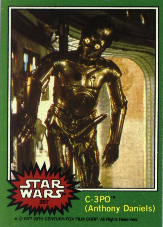 c3po card Great Moments in Phallic Occurrences