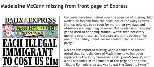 maddie Madeleine McCann: A Secret Dossier On Thieving Gypsies That An Anonymous Women Knows About