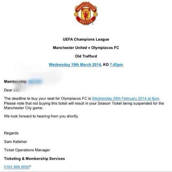 manchester united extortion