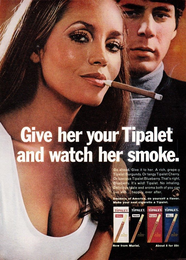 "tobacco ad 26 Sex Sells Tobacco: 10 ""Smoking Hot"" Vintage Adverts"