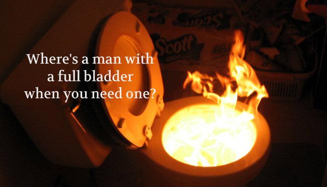 toilet fire
