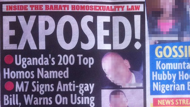 uganda Ugandas Red Paper Newspaper Names 200 Top Homos And Their Worms