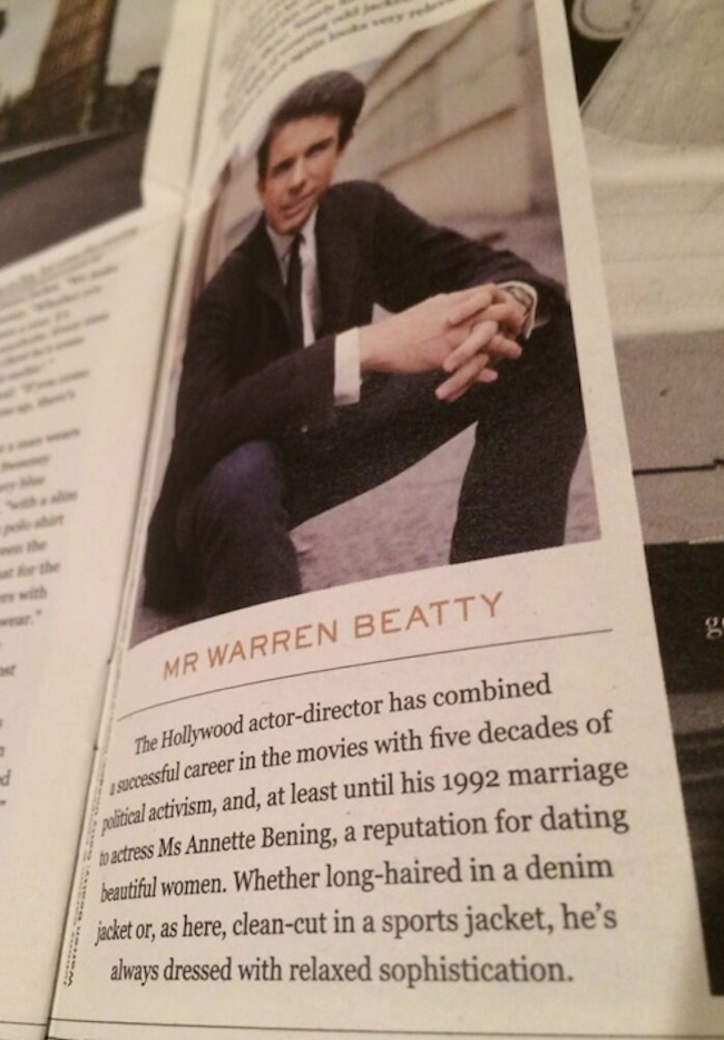 warren beatty Mr Porter Fail: How Annette Bening Ruined Warren Beattys Reputation For Dating Beautiful Women