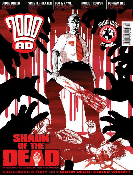 2000ad 1384 shaun of the dead frazer irving Comic Book Nerdorama: 12 Ways 2000AD Is Zarjaz
