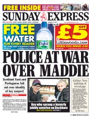 Daily Express Weekend 23 3 2014 Madeleine McCann: Police At War Over Euclides Monteiro, The Black African White Child Snatcher