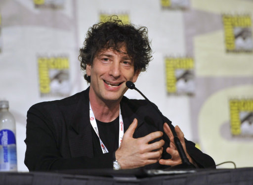 Neil Gaiman being really happy