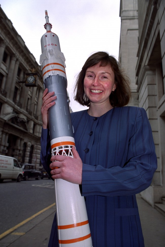 Helen Sharman, 27, from Surbiton, Surrey, who will blast-off aboard a Soyuz rocket with a crew of Russian cosmonauts as part of the Anglo-Soviet Juno Mission. Her selection was announced at a news conference in London. Date: 22/09/1991