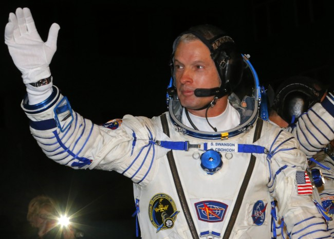 U.S. astronaut Steven Swanson,