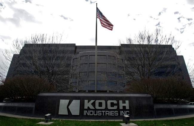 The Koch Industries Inc. headquarters is shown Monday, Nov. 14, 2005, in Wichita, Kan. In an announcement Sunday, paper products giant Georgia-Pacific Corp., the maker of Brawny paper towels and Angel Soft tissue, is being acquired for more than $13 billion by Koch Industries Inc., the nation's second-biggest private company. (AP Photo/Larry W. Smith)