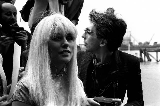 Blondie singer Debbie Harry (l) with her husband, guitarist Chris Stein (r)   Date: 01/05/1982