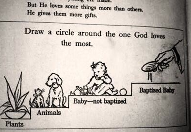 Screen shot 2014 03 05 at 10.49.12 1970s Irish Text Book: Draw A Circle Around The One God Loves Most