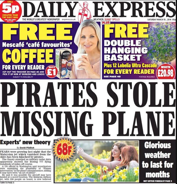 Screen shot 2014 03 14 at 22.35.03 Malaysia Airlines Flight MH370: Stolen By Pirates And Other Batshit Mental Theories In The British Tabloids